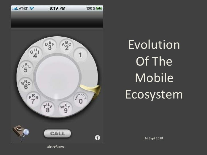 Evolution Of The Mobile Ecosystem<br />16 Sept 2010<br />iRetroPhone<br />