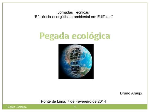 """Jornadas Técnicas """"Eficiência energética e ambiental em Edifícios"""" Bruno Araújo Ponte de Lima, 7 de Fevereiro de 2014 1Peg..."""