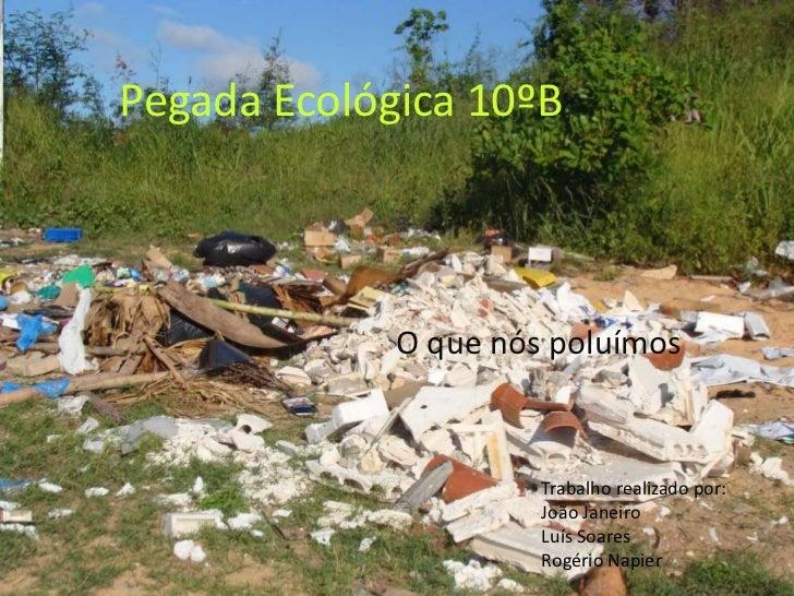 Pegada Ecológica 10ºB             O que nós poluímos                      Trabalho realizado por:                      Joã...
