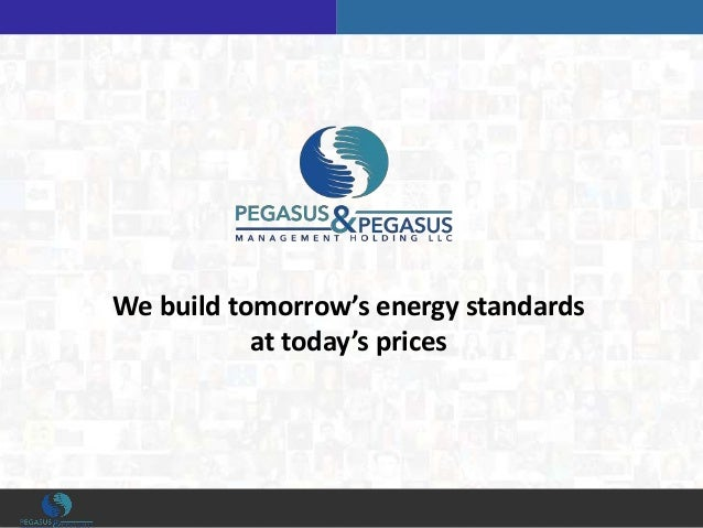 We build tomorrow's energy standards at today's prices