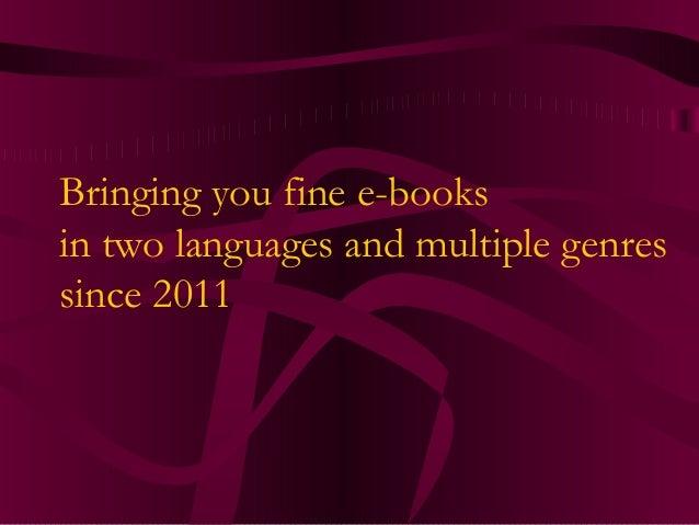 Pegasus Pulp Publishing 2013 Catalogue Slide 2