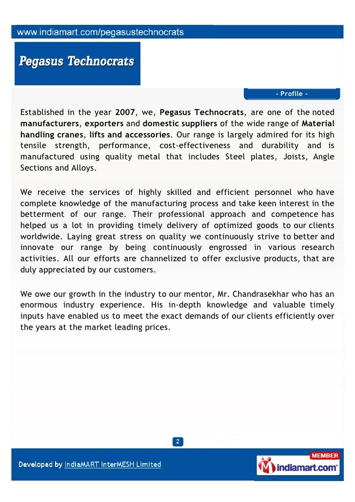 Pegasus Technocrats, Bengaluru, Jib Cranes Slide 2