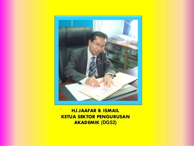 HJ.JAAFAR B. ISMAIL KETUA SEKTOR PENGURUSAN AKADEMIK (DG52)