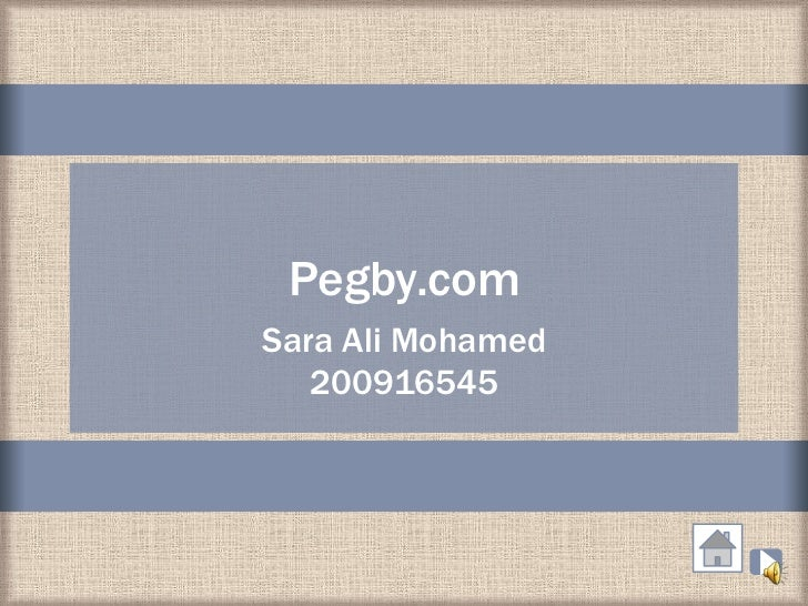 Pegby.comSara Ali Mohamed   200916545