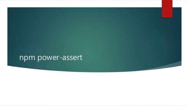 npm power-assert