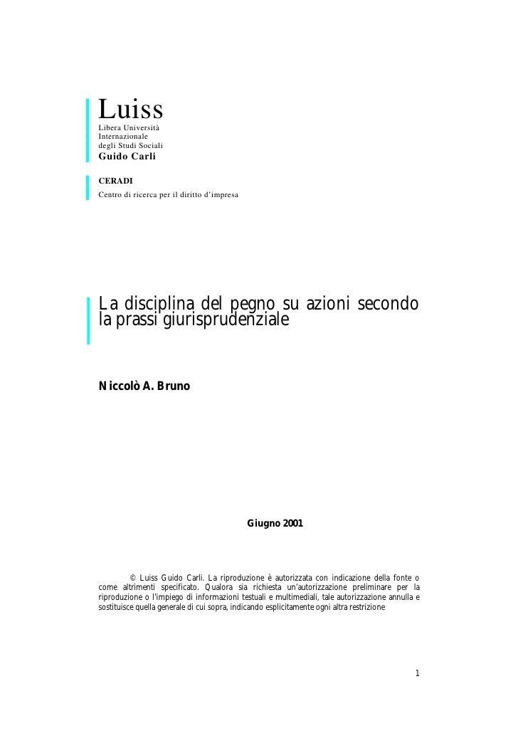 Luiss Libera Università Internazionale degli Studi Sociali Guido Carli  CERADI Centro di ricerca per il diritto d'impresa ...