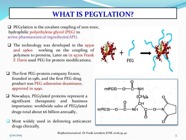 Pegylation of protiens drugs