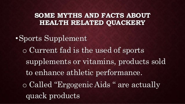PE Health and Fitness Quackery