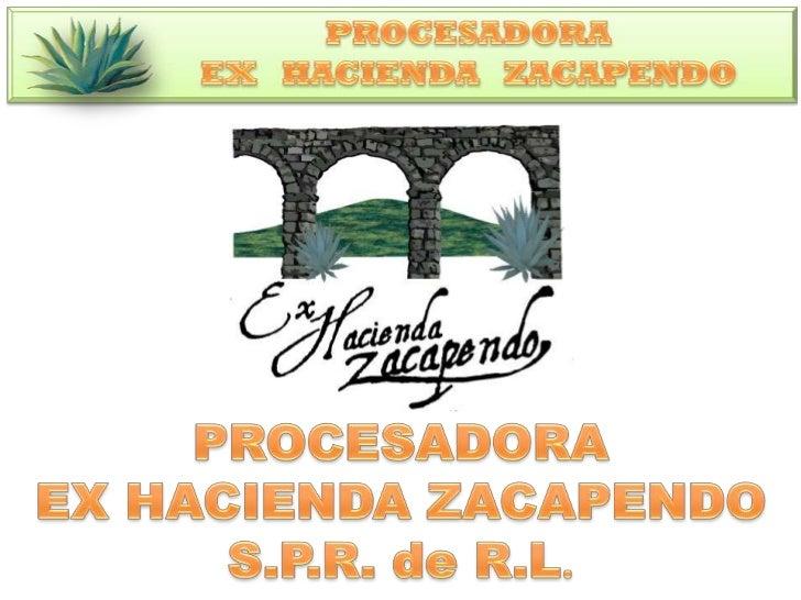 UBICACIÓNPROCESADORA EX HACIENDA ZACAPENDO S.P.R. de R.L.  DOMICILIO CONOCIDO EX HACIENDA ZACAPENDO   MUNICIPIO DE INDAPAR...