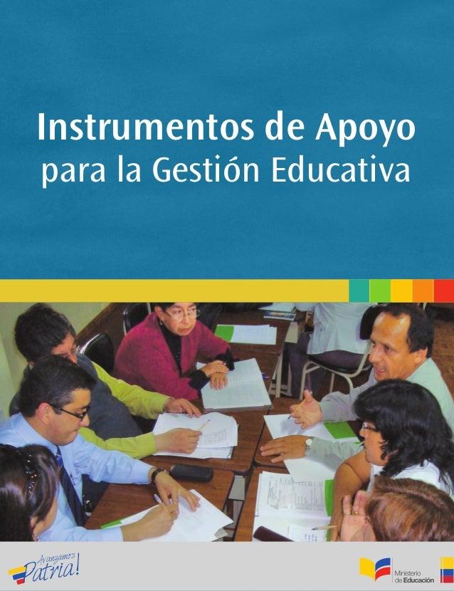 Instrumentos de Apoyopara la Gestión Educativa