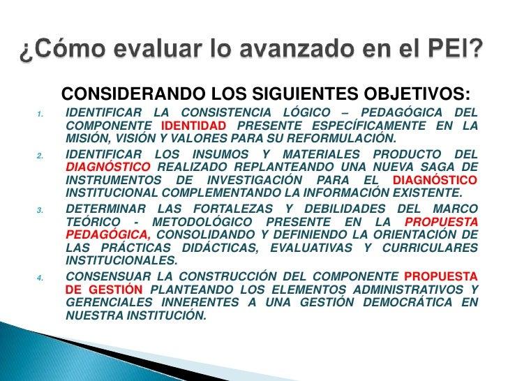 CONSIDERANDO LOS SIGUIENTES OBJETIVOS:<br />IDENTIFICAR LA CONSISTENCIA LÓGICO – PEDAGÓGICA DEL COMPONENTE IDENTIDAD ...