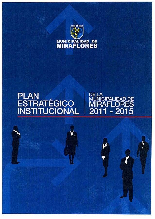 """río""""] MUNICIPALIDAD De V MIRAFLORES INDICE PRESENTACION """"PLAN ESTRATEGICO INSTITUCIONAL 2.1 Contexto Dlstrltal 2.2 Marco L..."""