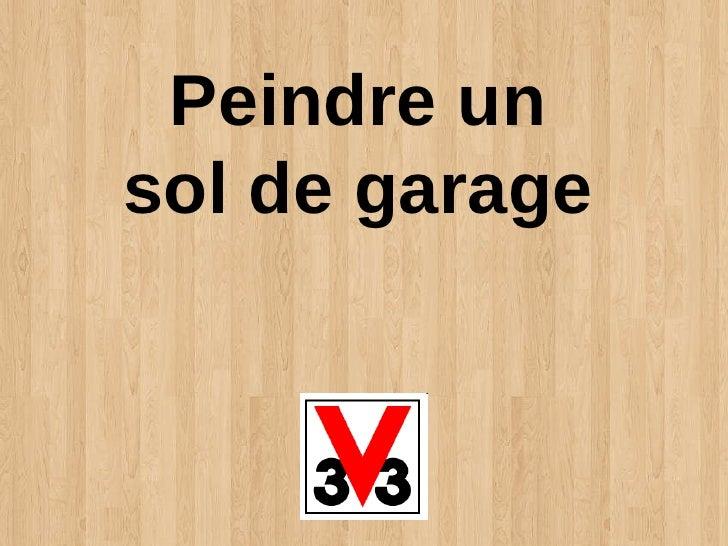 Peindre un sol de garage