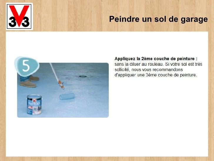 Peindre un sol de garage for Peindre un sol en bois