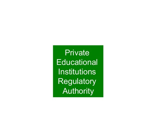 Private Educational Institutions Regulatory Authority