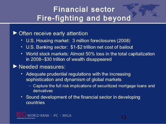 Financial sector           Fire-fighting and beyond► Often receive early attention   • U.S. Housing market: 3 million fore...