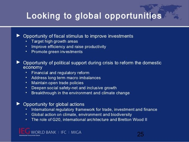 Looking to global opportunities► Opportunity of fiscal stimulus to improve investments    •   Target high growth areas    ...