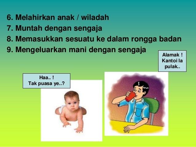 2.BALIGH • Kanak-kanak yang belum baligh tidak diwajibkan berpuasa