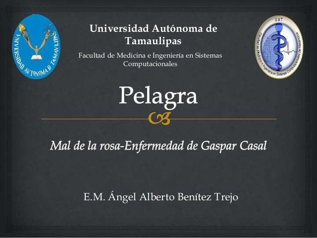 E.M. Ángel Alberto Benítez Trejo Universidad Autónoma de Tamaulipas Facultad de Medicina e Ingeniería en Sistemas Computac...