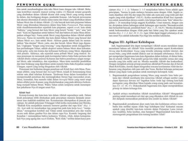 Pelajaran Sekolah Sabat ke-7 Triwulan II 2020