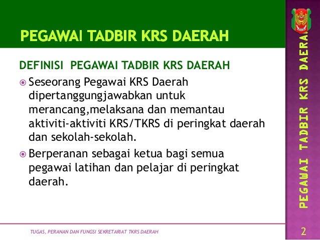 Pelantikan Fungsi Senarai Tugas Sekretariat Tkrs Daerah