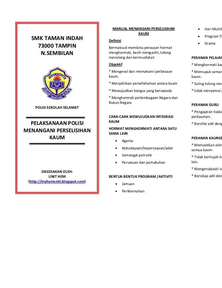 Pelan tindakan program sekolah selamat