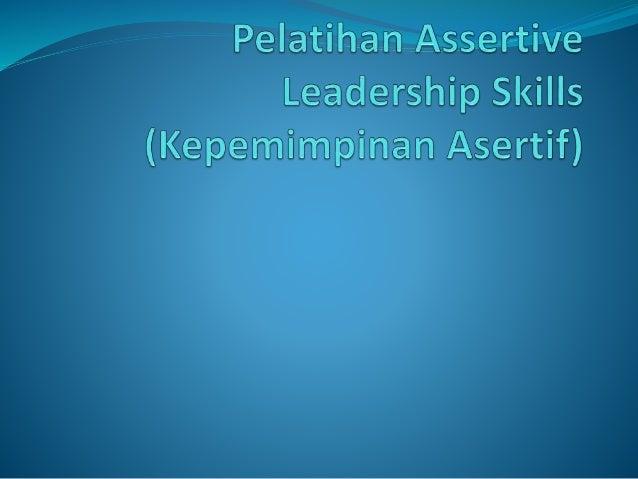  Learn to take charge and get the job done ... dan mendapatkan respek, loyalitas, dan kekaguman sepanjang anda memimpin! ...
