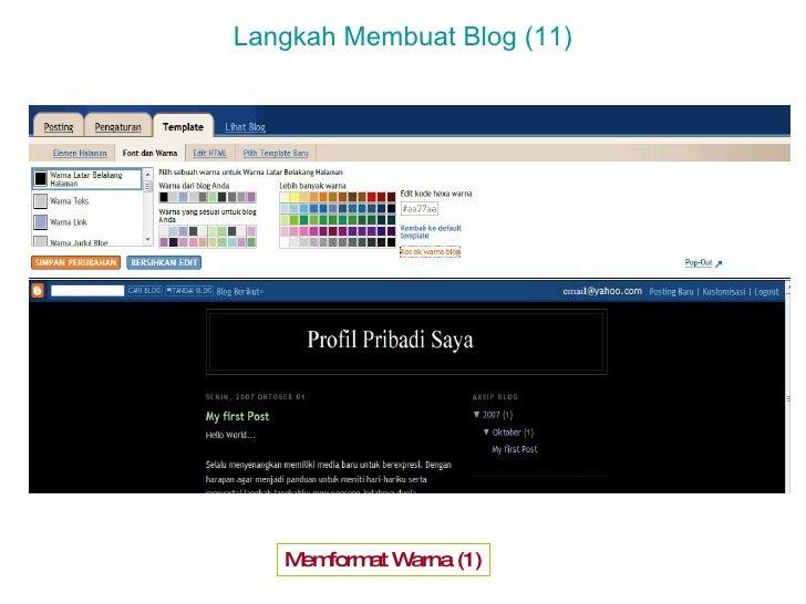 Pelatihan Membuat Blog Penghasil Uang