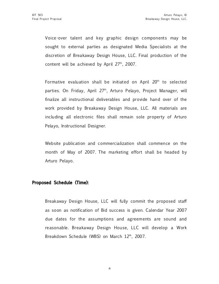 Sample Project Proposal Design Document – Project Quotation Template