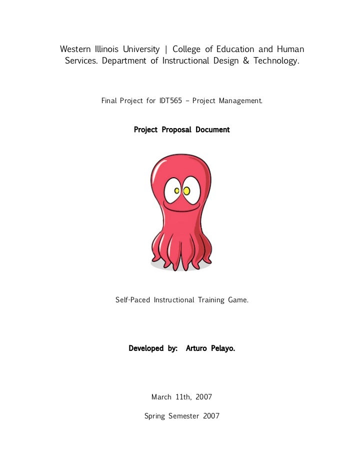 Sample Project Proposal Design Document