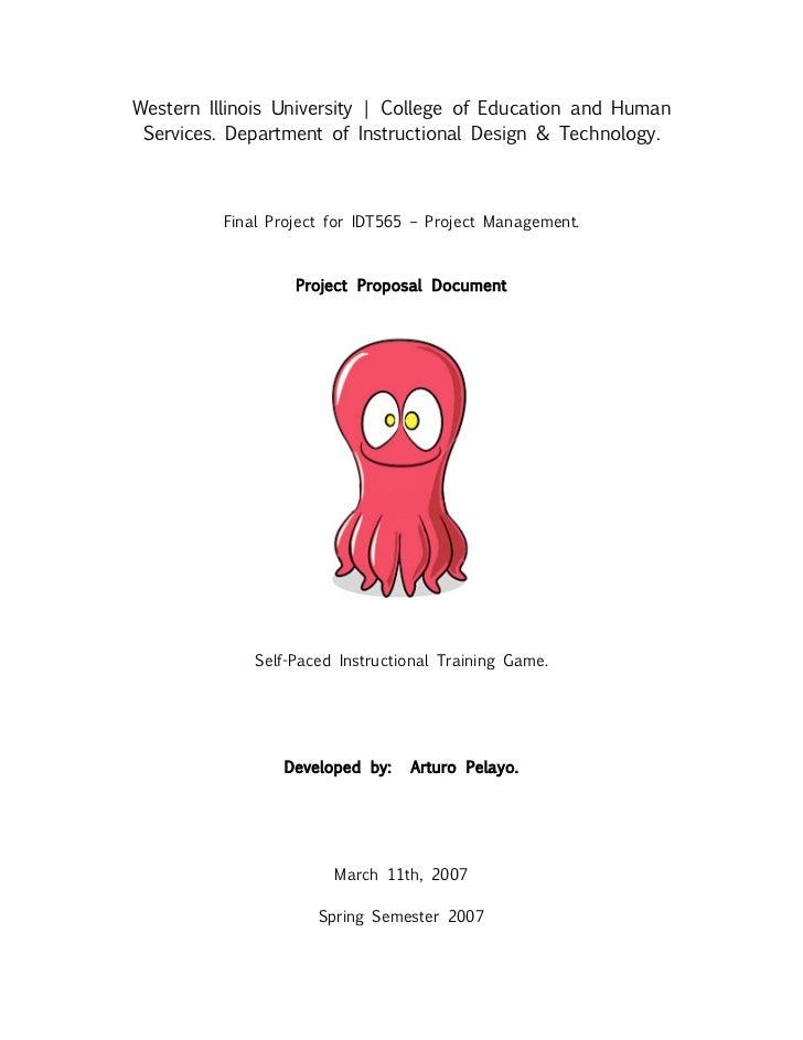 Sample Project Proposal Design Document - Contoh game design document