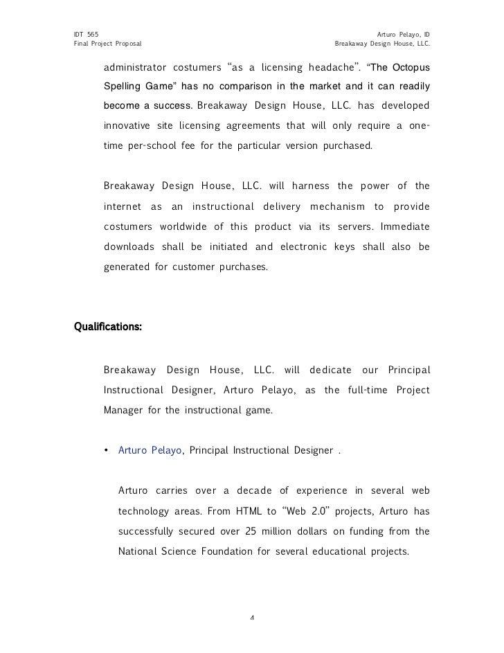 design project proposal sample