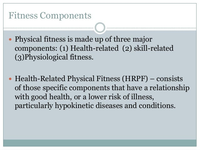 components of physical fitness pdf