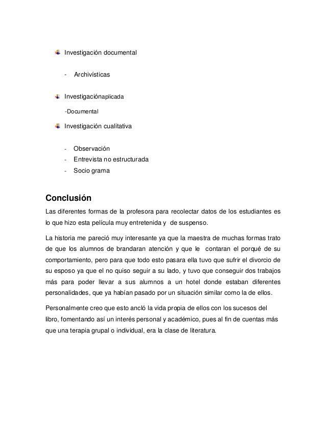 Investigación documental - Archivísticas Investigaciónaplicada -Documental Investigación cualitativa - Observación - Entre...