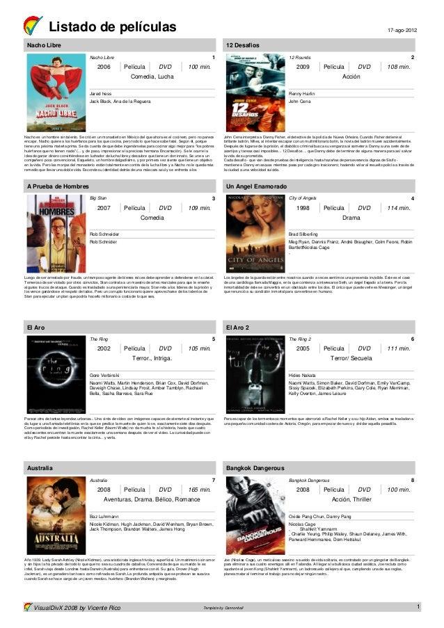 Listado de películas                                                                                                      ...