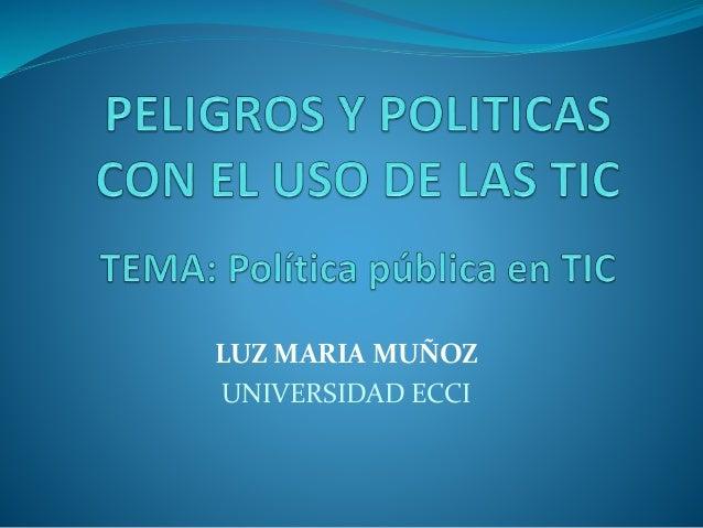 LUZ MARIA MUÑOZ UNIVERSIDAD ECCI