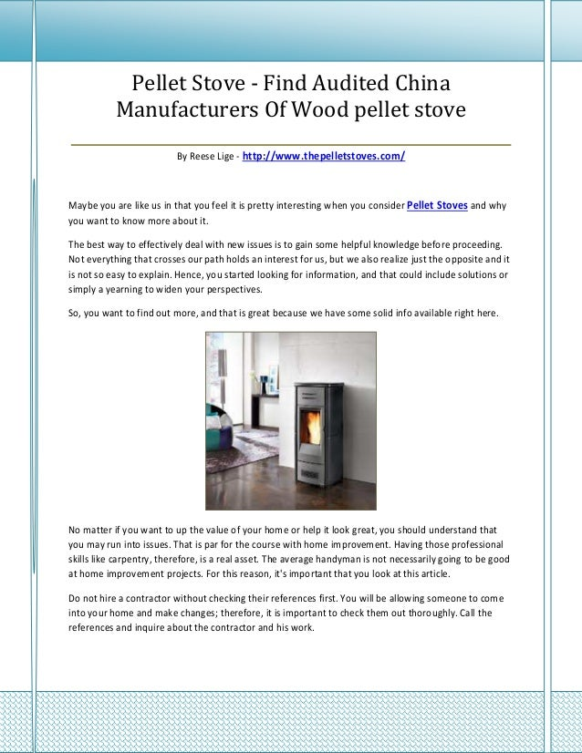 Pellet Stove - Find Audited China     Manufacturers Of Wood pellet stove__________________________________________________...