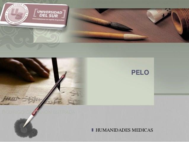 L/O/G/O PELO HUMANIDADES MEDICAS RODRIGO CASTAÑON ESTRADA