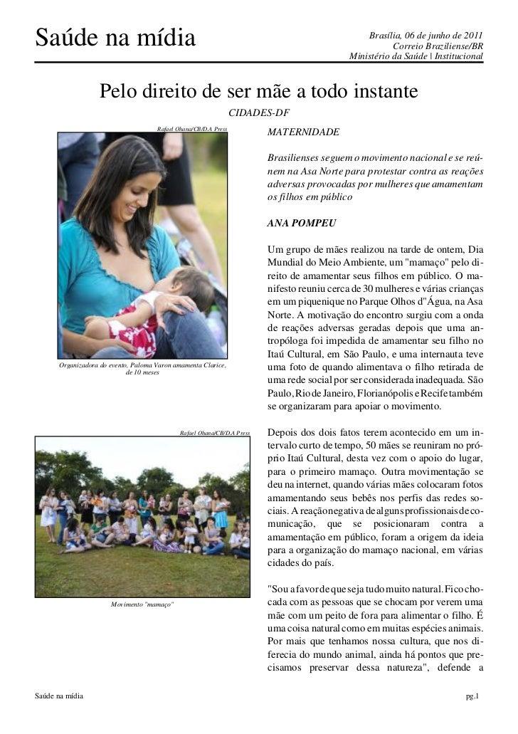 Saúde na mídia                                                                                   Brasília, 06 de junho de ...