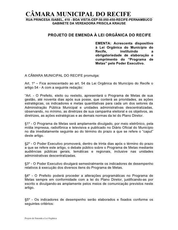CÂMARA MUNICIPAL DO RECIFE RUA PRINCESA ISABEL, 410 - BOA VISTA-CEP:50.050-450-RECIFE-PERNAMBUCO               GABINETE DA...