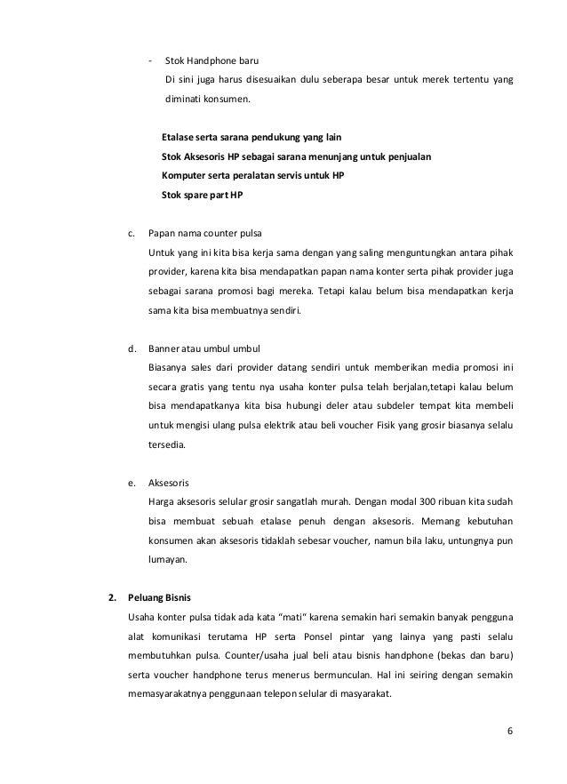 Peluang Bisnis Counter Handphone