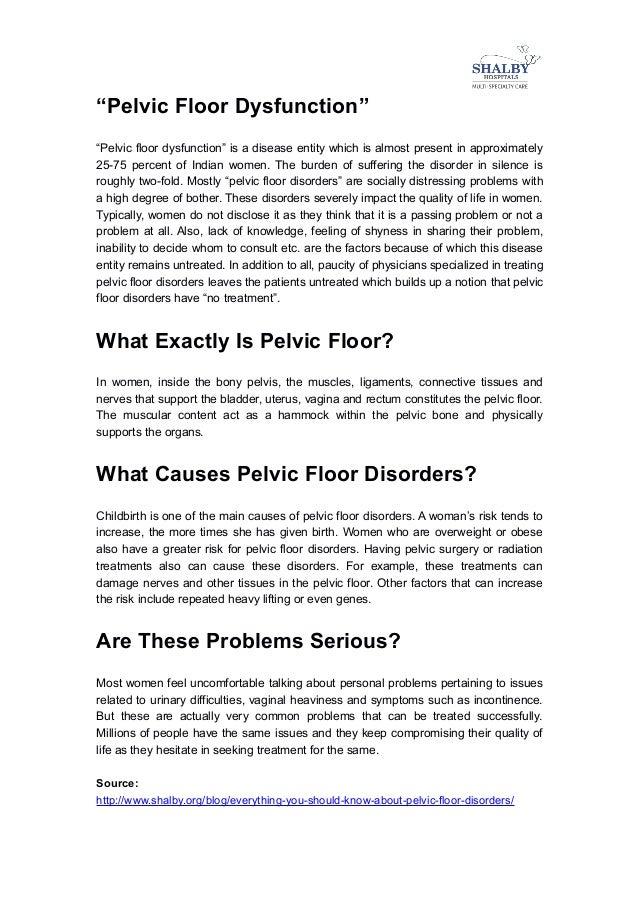Pelvic Floor Disorders; 2. U201cPelvic ...