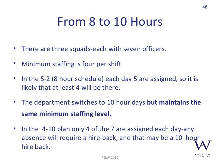 Police Executive Leadership Workshop Police Resource Allocation 2012