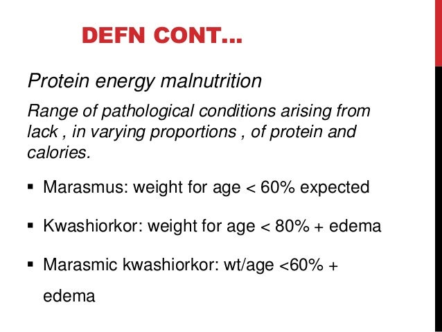 protein energy malnutrition Protein-energy malnutrition (pem) is a condition arising from a sustained inadequacy in the quantity of protein and/or energy needed to.