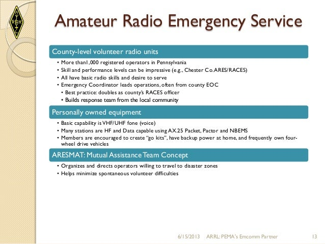 A Case for Volunteer (Amateur Radio) Emcomm