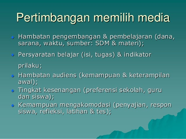 Jurnal Media Pembelajaran Audio Visual Media Pembelajaran Visual Dan Audio Visual Media Ragam