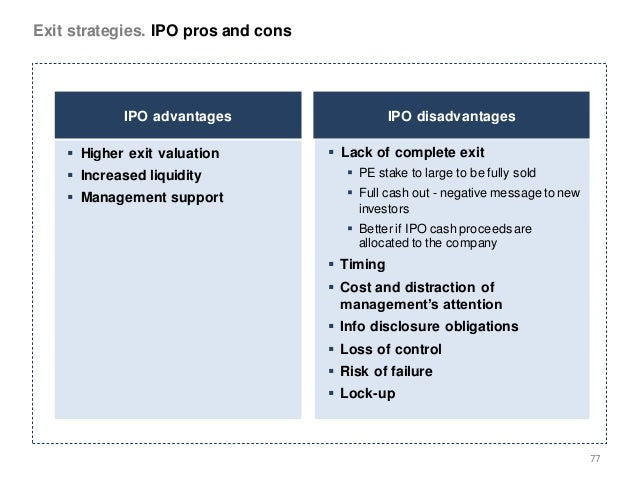 Ipo advantages for private equity