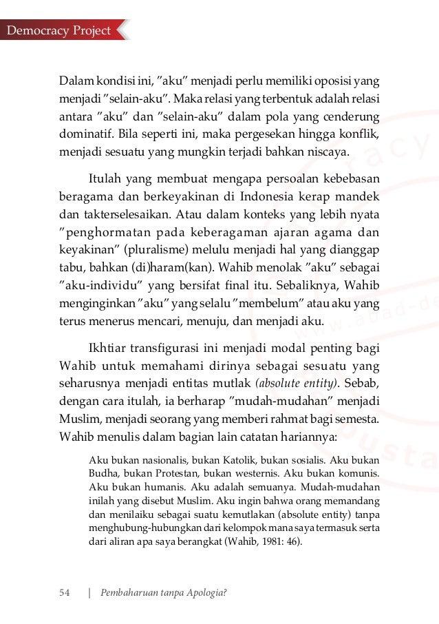 contoh essay tentang pluralisme