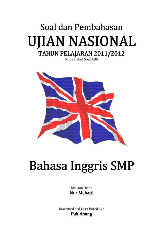 Pembahasan Soal Un Bahasa Inggris Smp 2012 Paket Soal A86