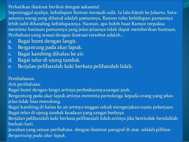 Pembahasan Contoh Soal Ujian Nasional Un Bahasa Indonesia Smk 2015